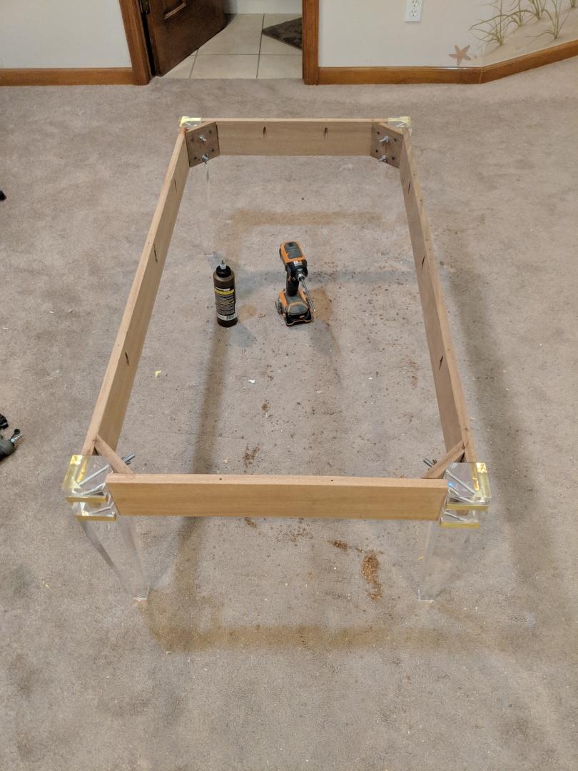 Acrylic Leg Coffee Table Part 1 Building The Frame Do It